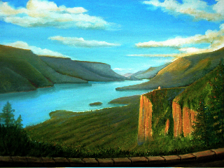 Columbia River Gorge - painting by Pablo Jacques