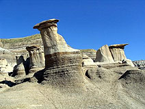 Hoodoos close to Drumheller