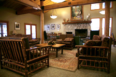 Relaxing Sequoia National Park winter time lodge