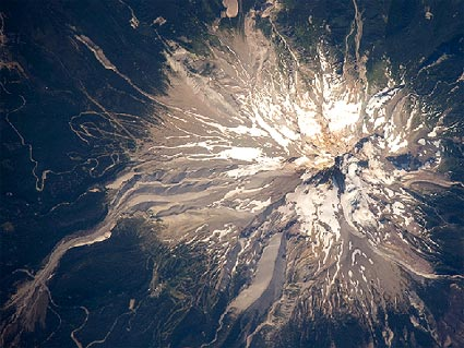 Mount Hood , Oregon, aerial view