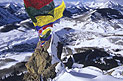 prayer flags on mountain