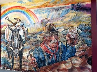 prospector mural in Ely, Nevada