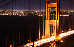 San Francisco by night, photo by Martin Fontaine