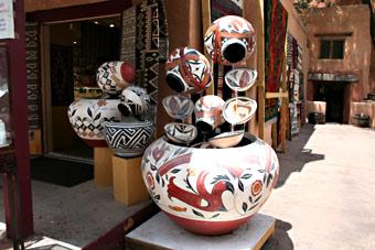 Santa Fe downtown art galleries