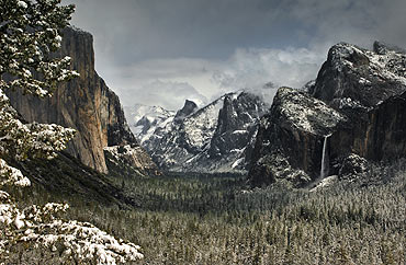 yosemite valley winter view